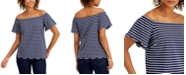 Charter Club Striped Off-The-Shoulder Top, Created for Macy's
