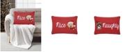 "Lacourte Naughty/Nice 14"" x 20"" Reversible Decorative Pillow"