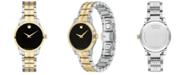 Movado Women's Swiss Gold PVD & Stainless Steel Bracelet Watch 28mm