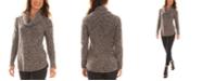 BCX Juniors' Cowl-Neck Boucle Sweater