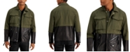 INC International Concepts INC Men's Mixed-Media Pieced Colorblocked Jacket, Created for Macy's