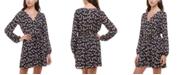 Trixxi Juniors' Floral-Print Scalloped Fit & Flare Dress