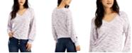 Self Esteem Juniors' V-Neck Cozy Long Balloon Sleeve Top