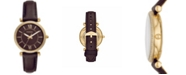 Fossil Women's Carlie Brown Leather Strap Watch 35mm