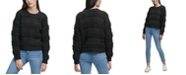 DKNY Textured Striped Sweater