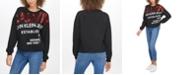 Calvin Klein Jeans Sequin-Embellished Logo-Graphic Sweatshirt