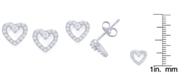 Macy's Cubic Zirconia Open Heart Stud Earrings in Fine Silver Plate
