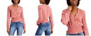 Self Esteem Juniors' Smocked Lace-Trim Top