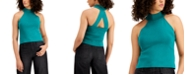 Bar III Crossback Mock-Neck Sweater, Created for Macy's