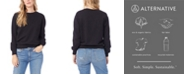 Alternative Apparel Women's Throwback Washed French Terry Sweatshirt