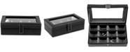 Bey-Berk Leather 12-Piece Cufflinks Box