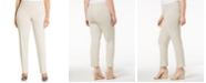 JM Collection Plus Size Tummy Control Slim-Leg Pants, Created for Macy's