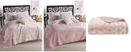 Martha Stewart Collection CLOSEOUT! Beach Wash  100% Cotton Reversible Sunset Pink Twin Quilt, Created for Macy's
