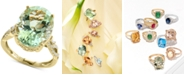 EFFY Collection EFFY® Green Quartz (8-3/4 ct. t.w.) & Diamond (1/5 ct. t.w.) Ring in 14k Gold