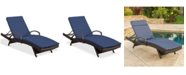 Noble House St. Thomas Outdoor Chaise Lounge