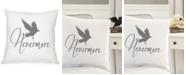 "Cathy's Concepts Nevermore Raven 16"" Square Decorative Pillow"