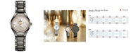 Rado Women's Swiss Automatic True Diamond (1/8 ct. t.w.) Plasma High-Tech Ceramic Bracelet Watch 30mm