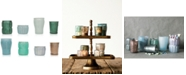 3R Studio Mercury Green Glass Tealight Holders, Set of 8