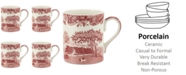 Spode Cranberry Italian Mug, Set of 4