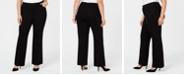 Anne Klein Plus Size Wide-Leg Trousers