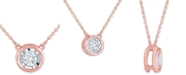 "Macy's Diamond Bezel 18"" Pendant Necklace (1/8 ct. t.w.)"