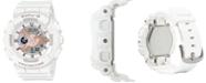 G-Shock Women's Analog-Digital White Resin Strap Watch 43.4mm