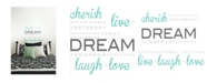 Brewster Home Fashions Cherish Dream Live Wall Quote