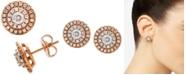 Macy's  Diamond Halo Stud Earrings (1 ct. t.w.) in 14k Rose & White Gold