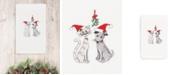 Linum Home CLOSEOUT!  Christmas Cute Couple 100% Turkish Cotton Hand Towel