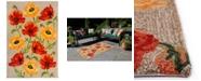 "Liora Manne' Ravella 2272 Icelandic Poppies Ivory/Cream 5' x 7'6"" Indoor/Outdoor Area Rug"