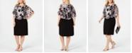 Connected Plus Size Chiffon-Popover Sheath Dress