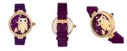 Bertha Quartz Rosie Purple Genuine Leather Watch, 38mm