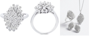 Wrapped in Love Diamond (1 ct. t.w.) Starburst Statement Ring in 14k White Gold, Created for Macy's