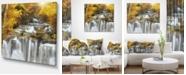 "Design Art Designart Autumn Huai Mae Kamin Waterfall Abstract Canvas Artwork - 40"" X 30"""