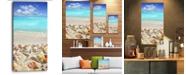 "Design Art Designart Caribbean Sea Starfish Beach And Shore Canvas Art Print - 16"" X 32"""