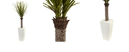Nearly Natural 4' Yucca Artificial Tree in White Tower Planter
