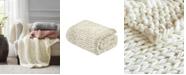"Madison Park Chunky Knit 50"" x 60"" Handmade Throw Blanket"