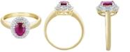 Macy's Certified Ruby (9/10 ct. t.w.) & Diamond (1/4 ct. t.w.) Ring in 10k Gold