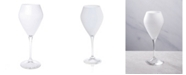 Classic Touch Set of 6 Wine Glasses with Clear Stem