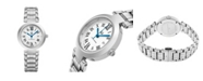 Stuhrling Alexander Watch A203B-01, Ladies Quartz Date Watch with Stainless Steel Case on Stainless Steel Bracelet