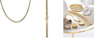 """Macy's Box Link 24"""" Chain Necklace in 18k Gold-Plated Sterling Silver"""