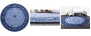 Bridgeport Home Aldrose Ald4 Blue 8' x 8' Round Area Rug