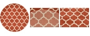"""Bridgeport Home Arbor Arb1 Light Terracotta 3' 3"""" x 3' 3"""" Round Area Rug"""