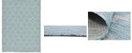 Bridgeport Home Pashio Pas5 Aquamarine 9' x 12' Area Rug