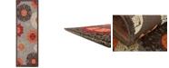 Bridgeport Home Pashio Pas4 Brown 2' x 6' Runner Area Rug