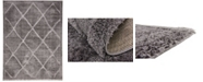 Bridgeport Home Filigree Shag Fil1 Dark Gray 9' x 12' Area Rug