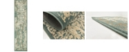 "Bridgeport Home Tabert Tab1 Green 2' 6"" x 10' Runner Area Rug"