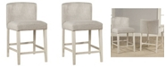Hillsdale Clarion Non-Swivel Wing Arm Counter Height Stool