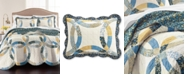 Martha Stewart Collection CLOSEOUT! Wedding Rings Blue King Quilt, Created for Macy's