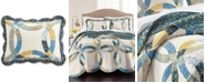 Martha Stewart Collection CLOSEOUT! Wedding Rings Blue Standard Sham, Created for Macy's